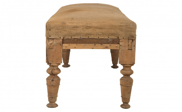 Antique pine bench from Provence via Jayson Home, as seen on linenandlavender.net