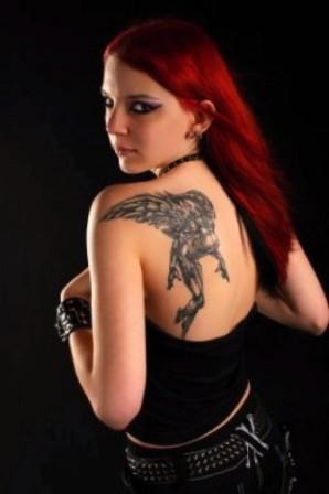 Angel Tattoo design that assumes supreme popularity solely for its