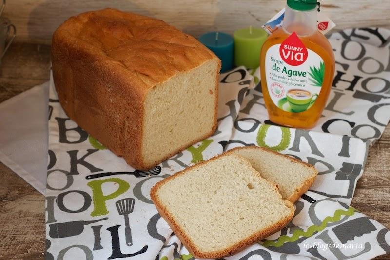 Pan de molde con sirope de agave
