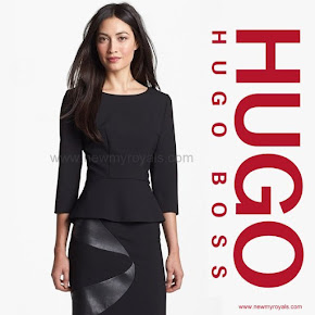 Crown Princess Mary Style BOSS HUGO BOSS  Ipeplana Peplum Top