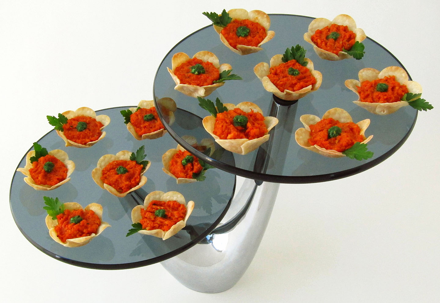 Celebrate the coming of spring with flower appetizers and a