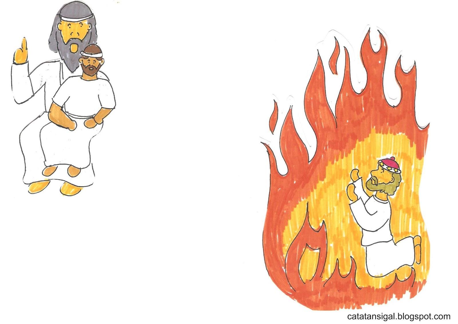 Cerita Bergambar Orang Kaya dan Lazarus