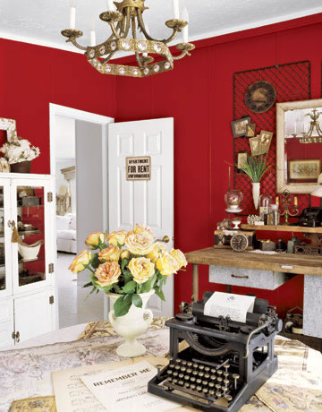 Ideas decorando interiores page 13 for Red wall decor for living rooms