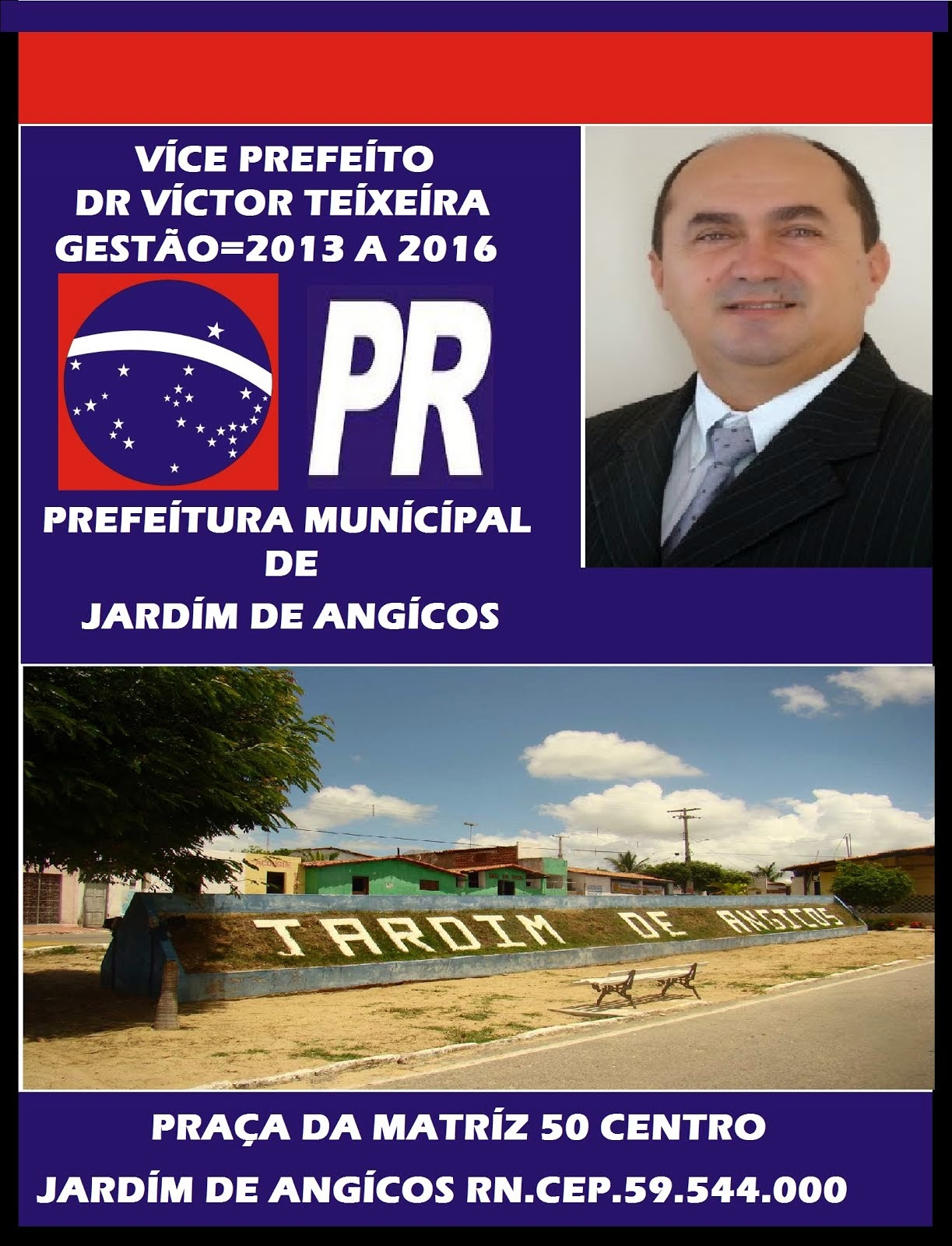 VICE PREFEITO VICTOR TEIXEIRA.