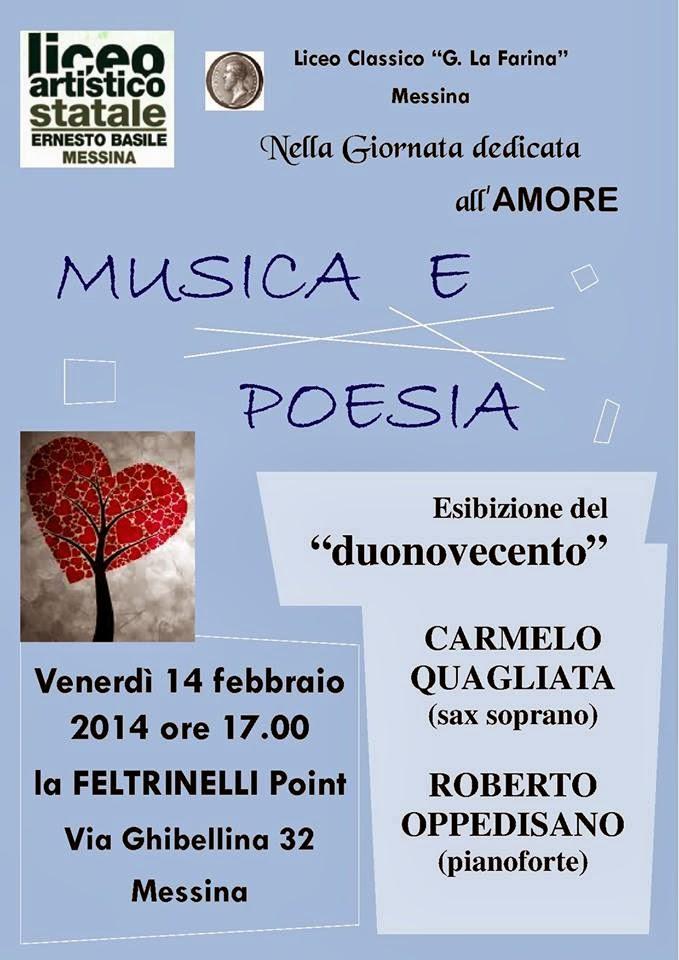 """MUSICA E POESIA CON IL DUONOVECENTO"""" AL FELTRINELLI POINT MESSINA"""