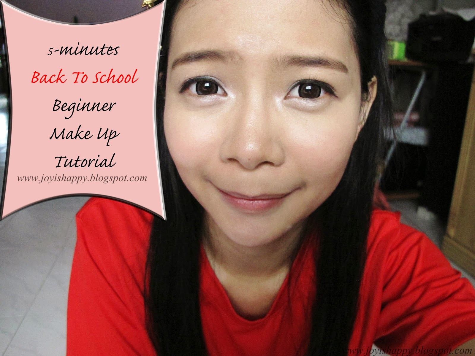 5 min back to school make up tutorial