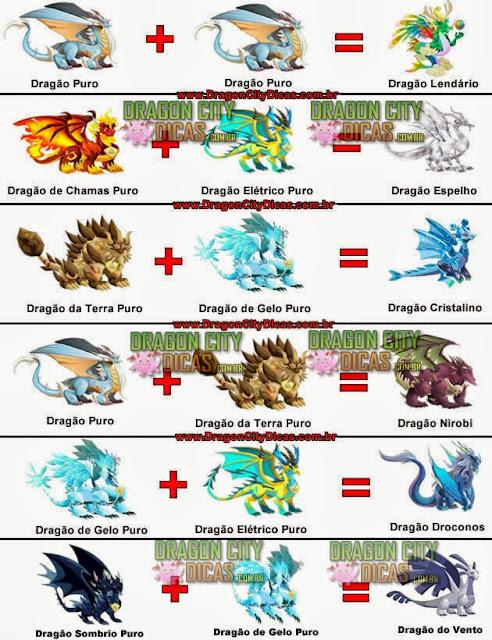 Dragões Lendários - Como obter - Cruzamentos