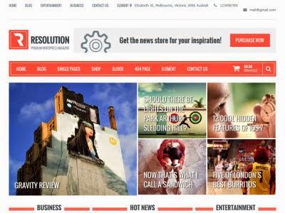 Resolution WordPress Theme