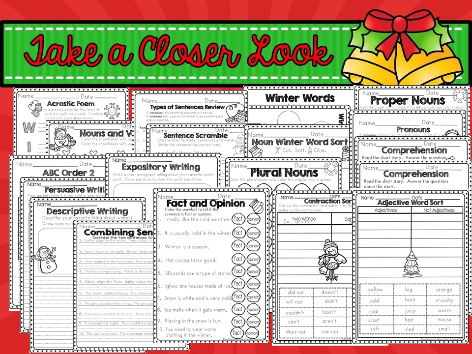 http://www.teacherspayteachers.com/Product/Winter-Printables-2nd-Grade-1595834