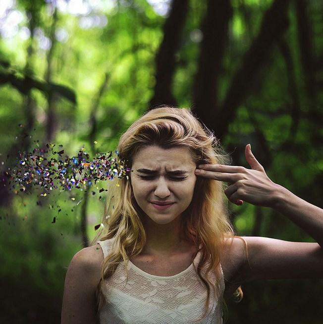 Foto model konseptual dalam fotografi bokeh