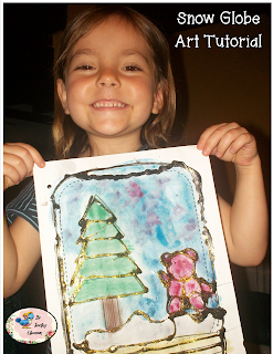 easy snow globe art for kids