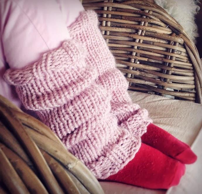pink leg warmers, diy, säärystimet tytölle