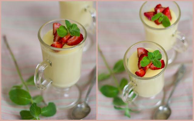 Pudding z białej czekolady