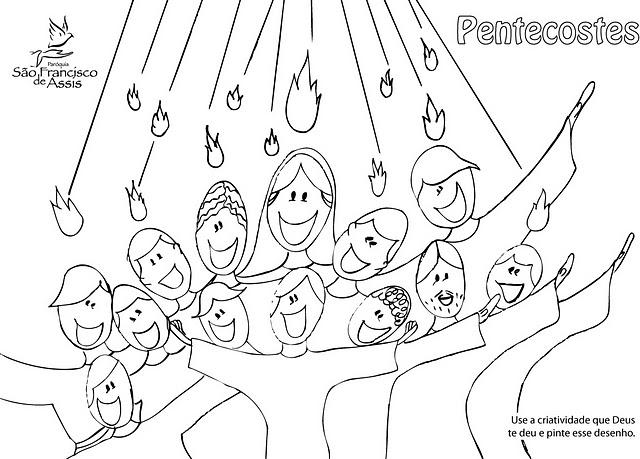pentecostes para colorir hora de colorir atividades escolares