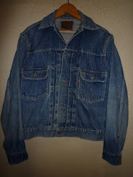 LEVI'S 507XX 2nd. EDITION DENIM JACKET WITH LEATHER PATCH