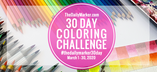 ♥ #thedailymarker30day Coloring Challenge ♥