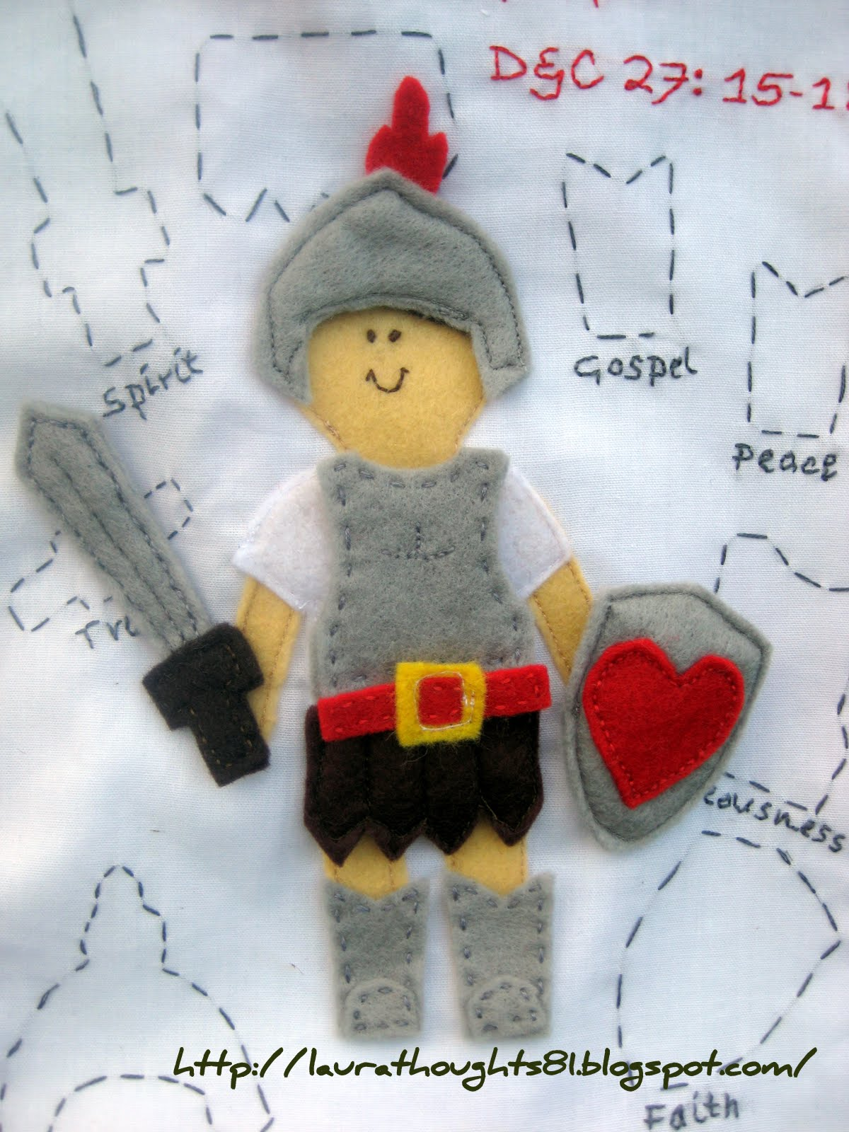 laura thoughts quiet book week put on the armour of god template
