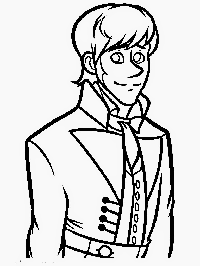 Frozen Coloring Pages Face Of Hans