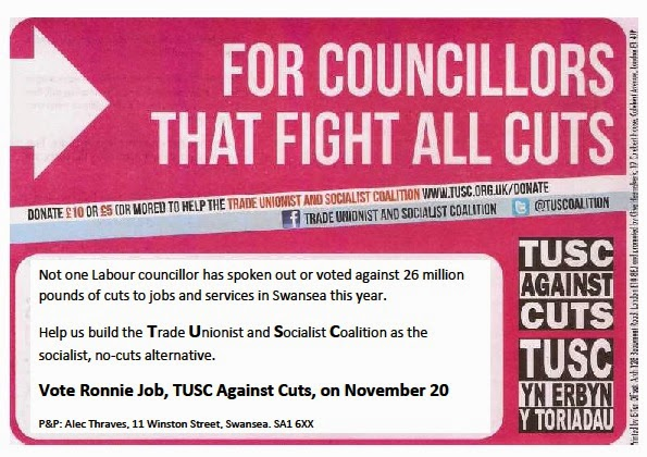 Image of first TUSC leaflet for Uplands