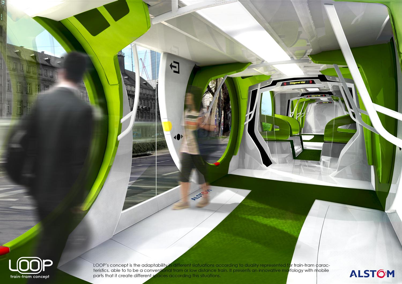 Alex Nadal Alstom Loop Traintram Concept
