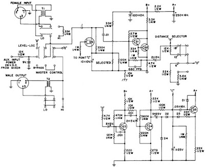 Audio Level Controller Circuit Diagram