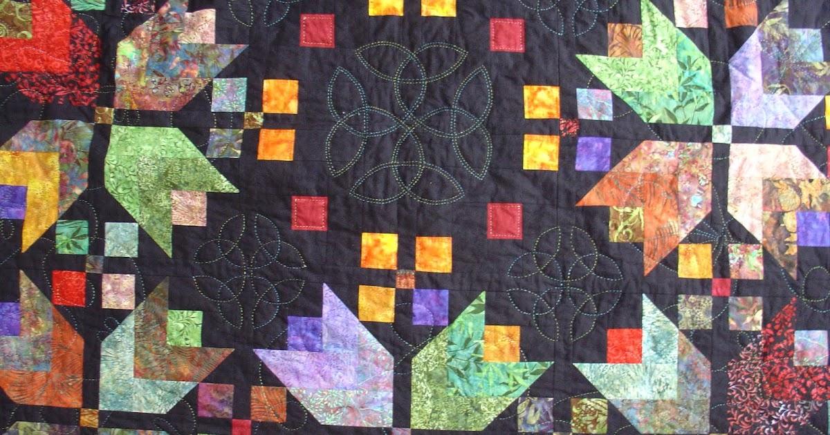 patchwork und quilten der tulpenquilt ist fertig. Black Bedroom Furniture Sets. Home Design Ideas