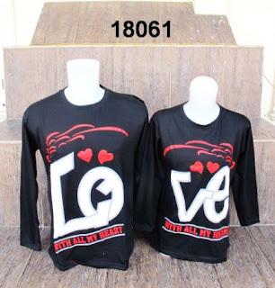 Baju-couple-lengan-panjang-love-hitam
