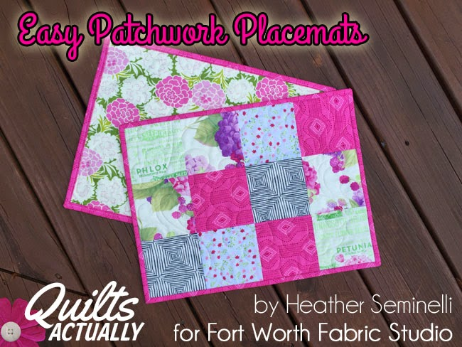 Fort Worth Fabric Studio Easy Patchwork Placemats