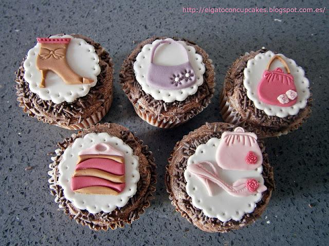 Cupcakes bolsos y zapatos