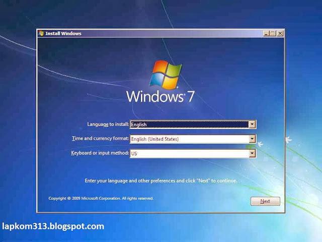 Panduan Menginstall windows 7