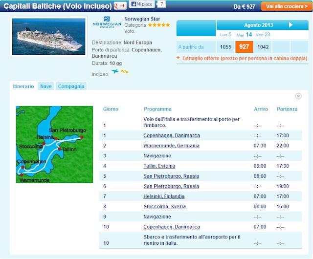 Crociere Capitali Baltiche: il Nord Europa con Volo Incluso