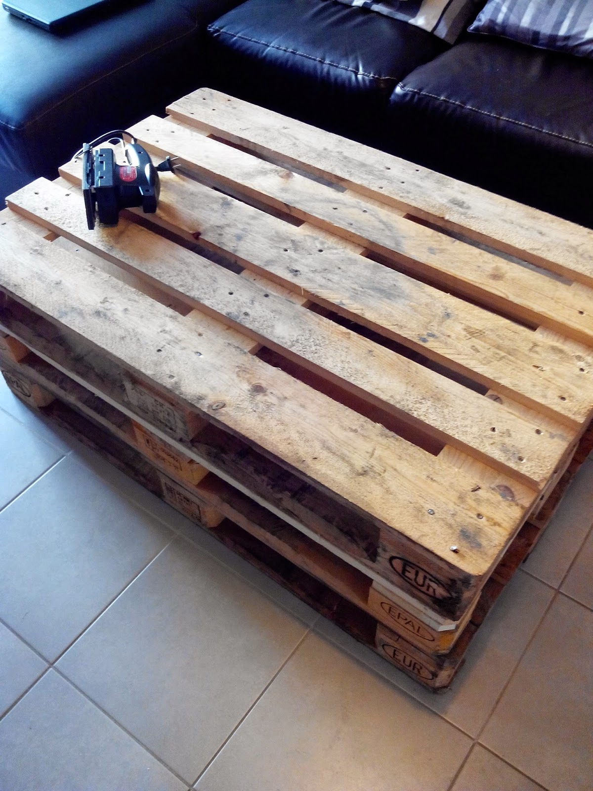palette, bricolage, diy, table basse, bullelodie
