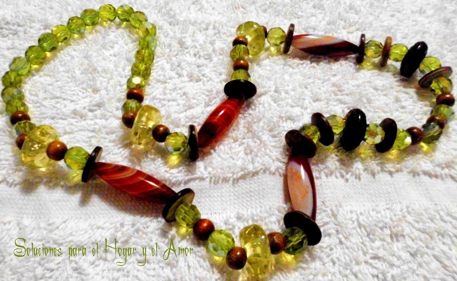 DIY Collar con cuentas recicladas de otros collares