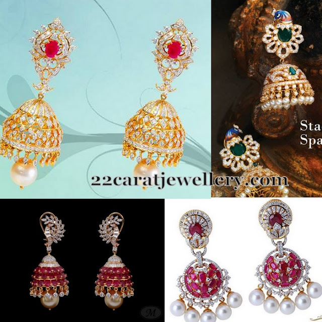 Latest 2015 Diamond Jhumkas