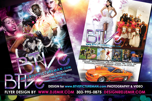 BTVE Video productionand Photography Flyer Design