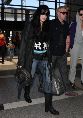 Cher and Elijah Allman at LAX Airport