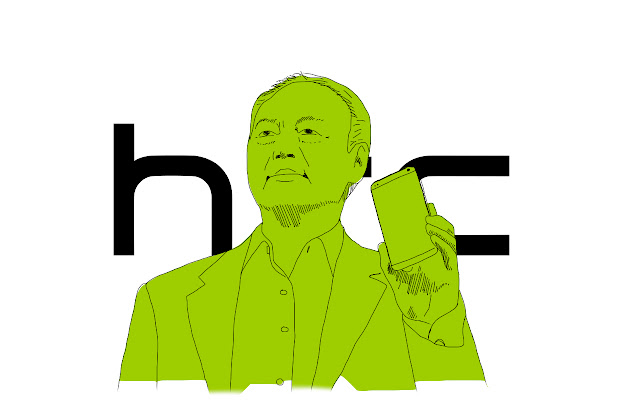PhoneSplurt illustration of HTC's Peter Chou