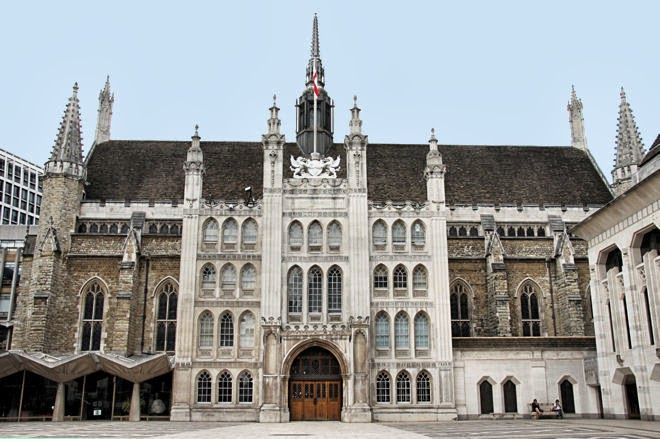 Guildhall in london for Time square londra