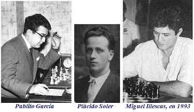 Pablito García, Plácido Soler y Miguel Illescas