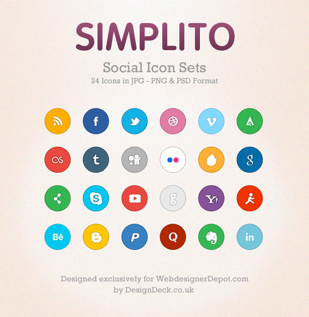 preview 10 Amazing Free Download Flat Icons PSD
