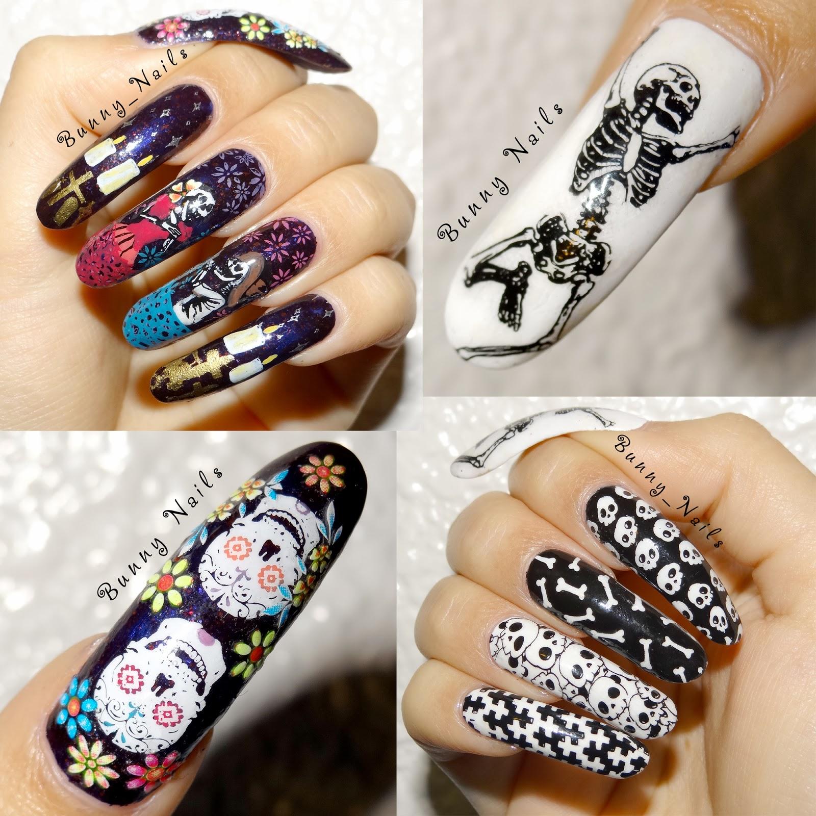 Bunny nails 2x1 da de muertos nail art 2x1 da de muertos nail art prinsesfo Images