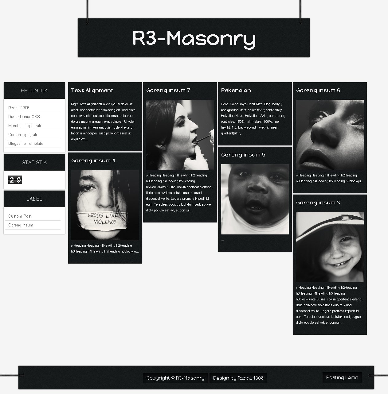 R3-Masonry Blogazine Template