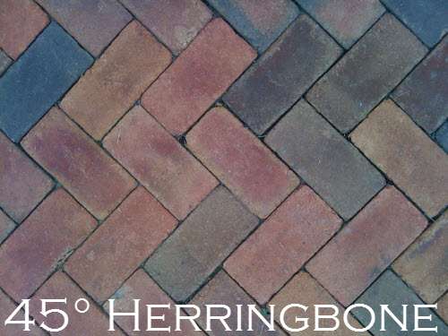 Design Brick Paver Patterns Thinking Outside The Boxwood - 45 degree herringbone tile pattern