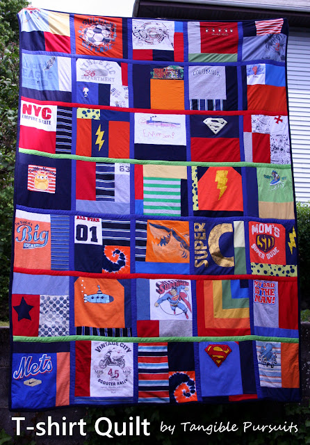 Tangible Pursuits: T-shirt Quilt