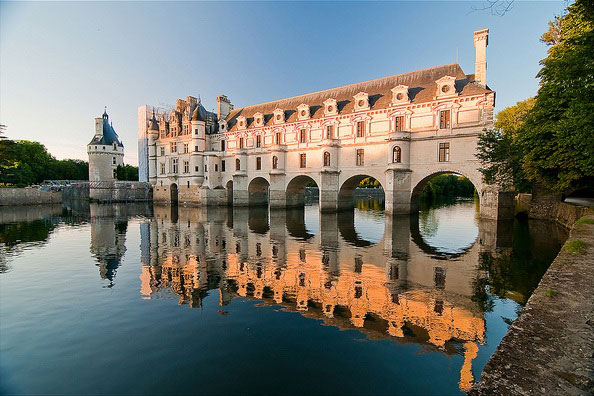 El castillo de Chenonceau en el Valle del Loira