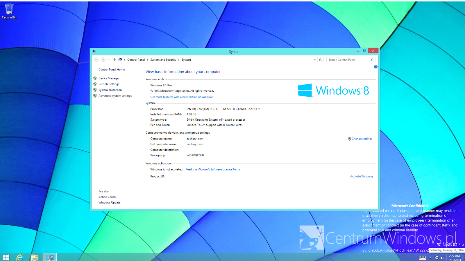 Windows 8.1 update 1 new screenshot