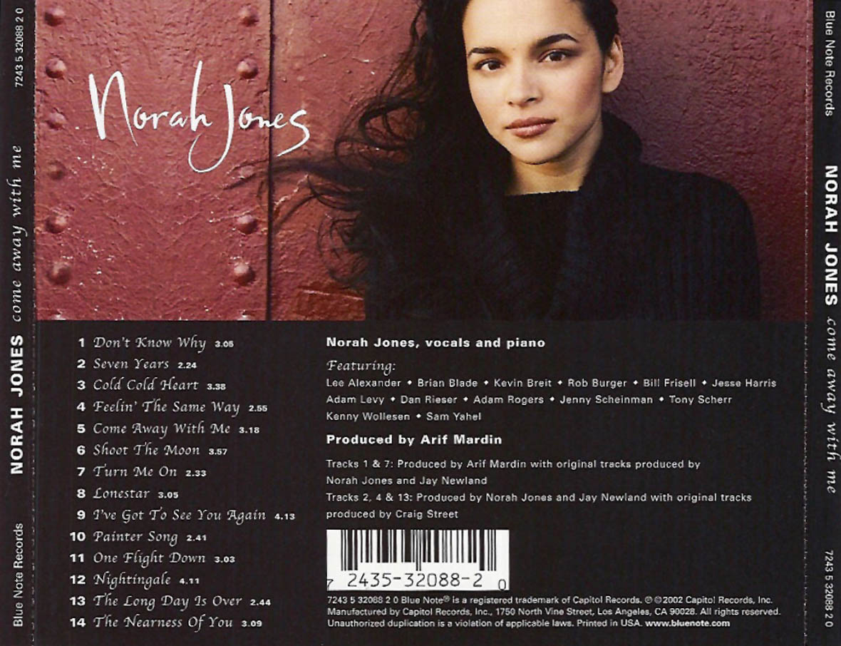 1001 Discos 13: Norah Jones - Come Away With Me (2002)