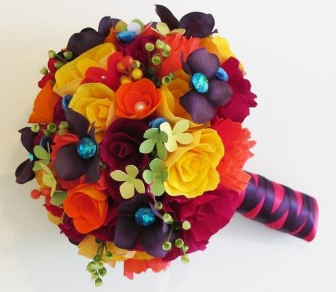 Paper Flower Bouquet For Weddings