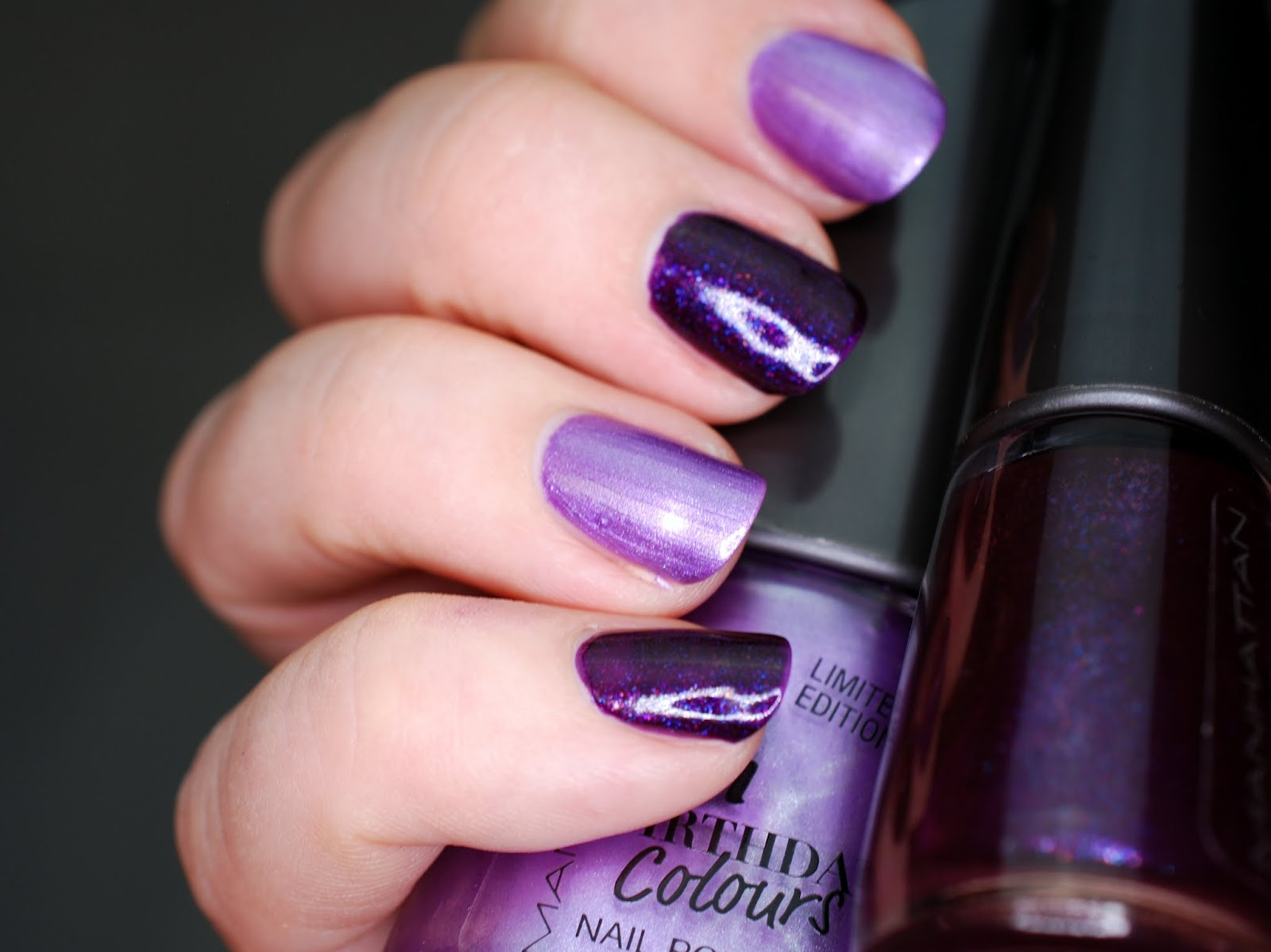 NOTD Manhattan Birthday Colours Dance Fever und Purple Pearls