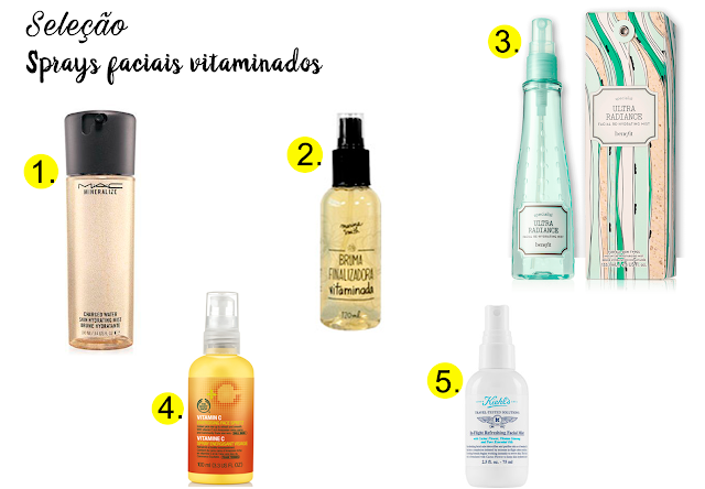 Seleção: Sprays faciais vitaminados